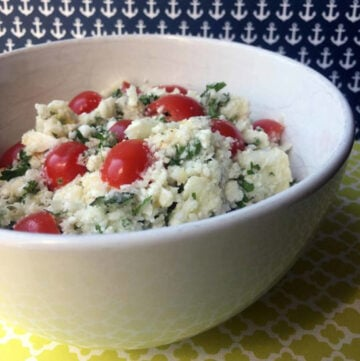 Low Carb Keto Cauliflower Tabbouleh Salad