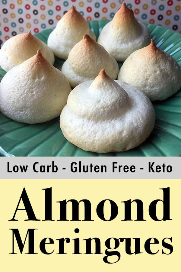 Gluten-Free Sugar-Free Almond Meringue Cookies