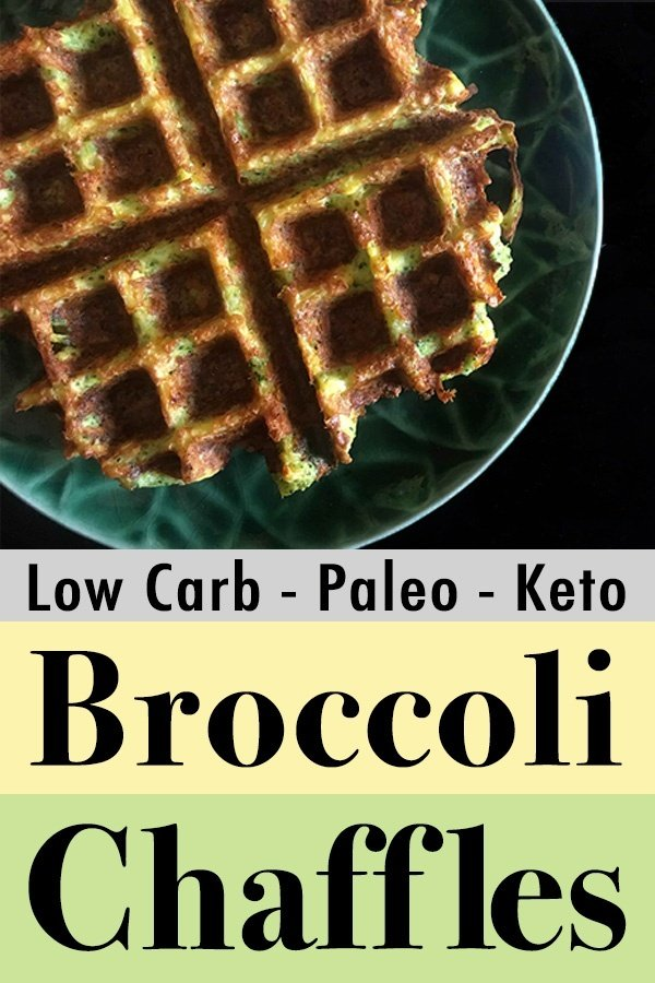 Pinterest Pin for Broccoli Chaffles