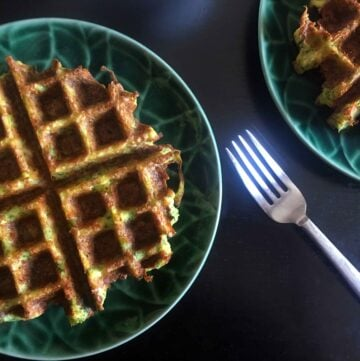 Low Carb Keto Broccoli Cheese Waffles