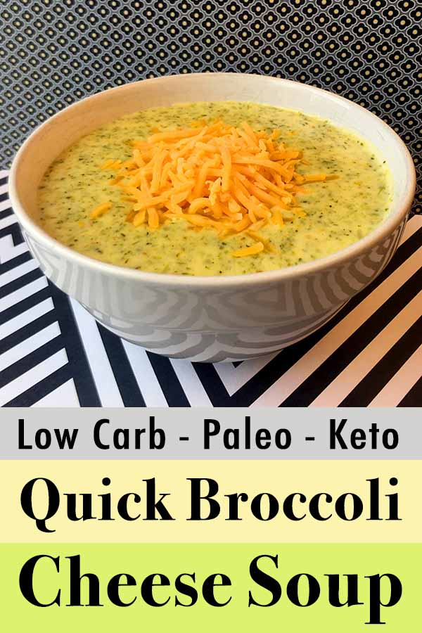 Low Carb Keto Broccoli Cheese Soup Pinterest Pin