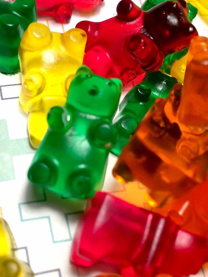 a pile of sugar free Keto gummies