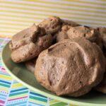 a plate of Keto Chocolate Meringue Cookies