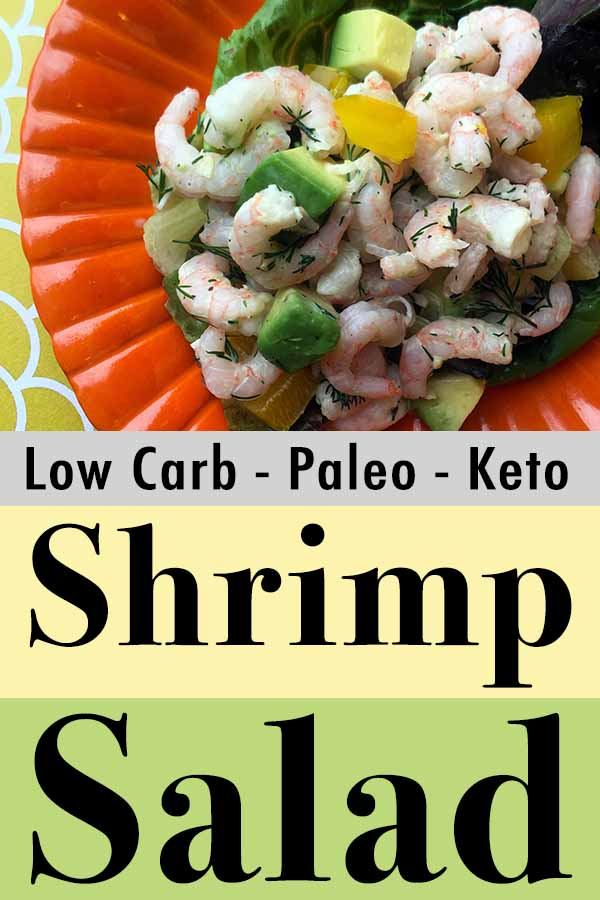 Low Carb Shrimp and Avocado Salad Pinterest Pin