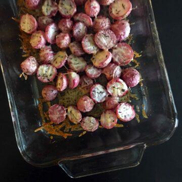 Low Carb Keto Parmesan Radish Bake