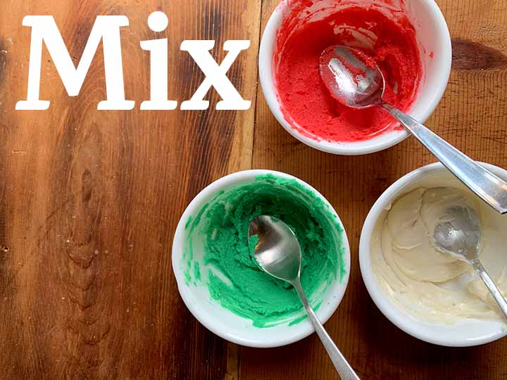 step 10 mix together the frosting