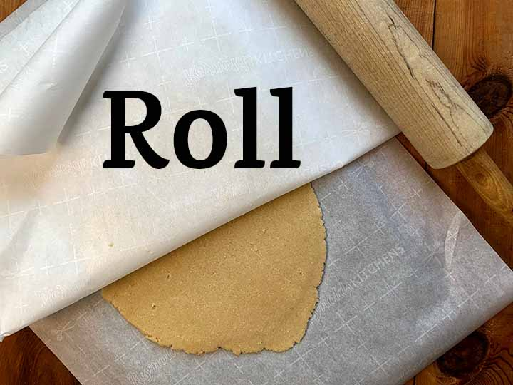 step 4 roll the dough out to ¼ inch thick