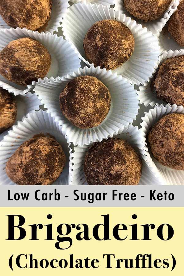 Low Carb Keto Brigadeiro Chocolate Truffles Pinterest Pin