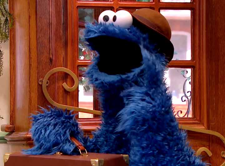 A picture of Biscuit Monster, Cookie Monster's British cousin