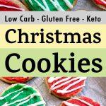 Pinterest Pin for Keto Gluten Free Christmas Cookies