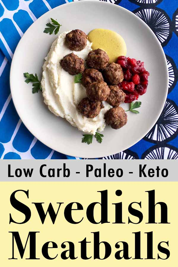 Low Carb Keto Swedish Meatball IKEA Meal Pinterest Pin