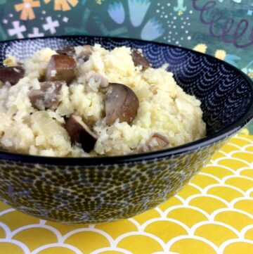 Low Carb Keto Cauliflower Risotto with Mushrooms