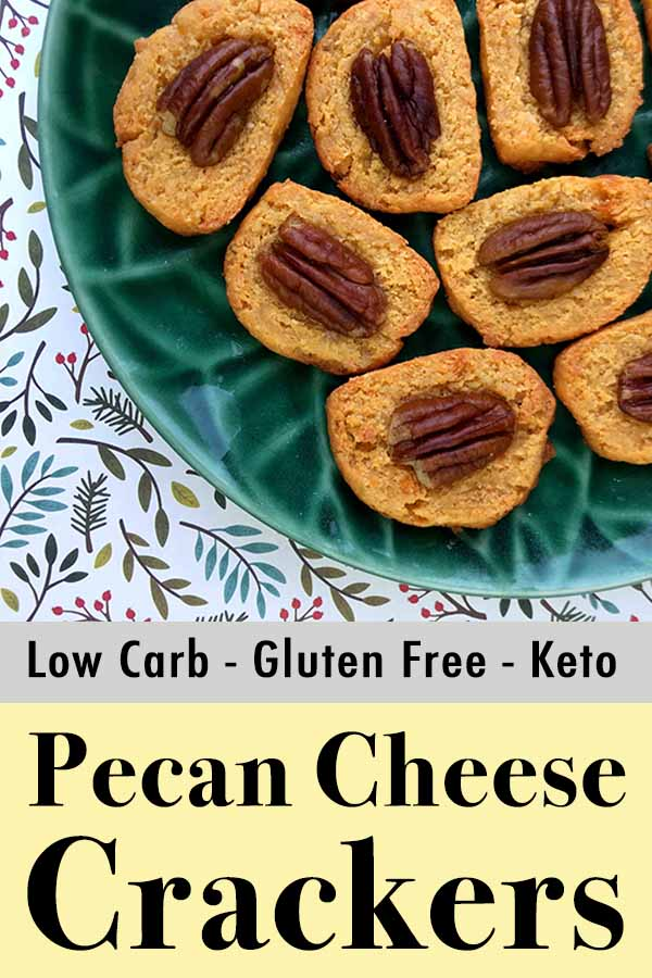Low Carb Keto Spicy Pecan Cheese Crackers Pinterest Pin