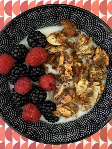 a bowl of Keto Honey Bunches of Oats