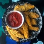 Low Carb Keto Chicken Fingers with Ketchup