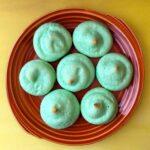 a plate of Jello Meringue Cookies