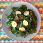 Keto Spinach Salad with Warm Bacon Dressing