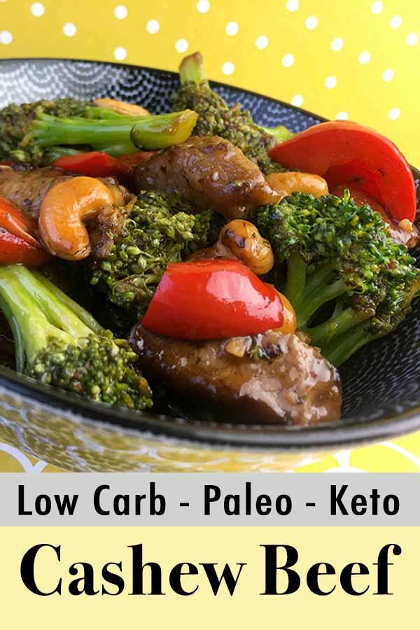 Low Carb Keto Cashew Beef Pinterest Pin