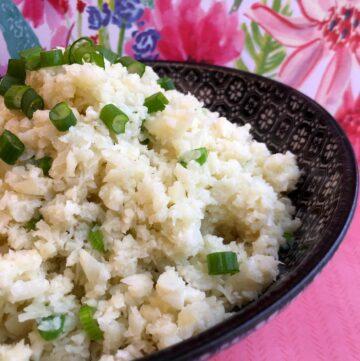Low Carb Keto Coconut Cauliflower Rice