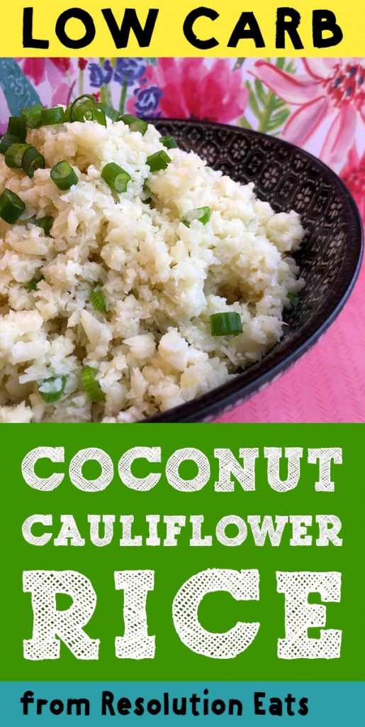 Low Carb Keto Coconut Cauliflower Rice