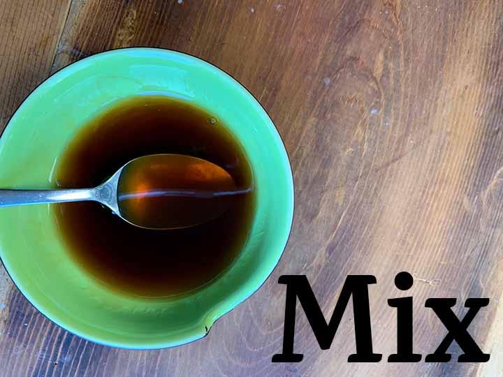 Step 3 mix up the caramel sauce