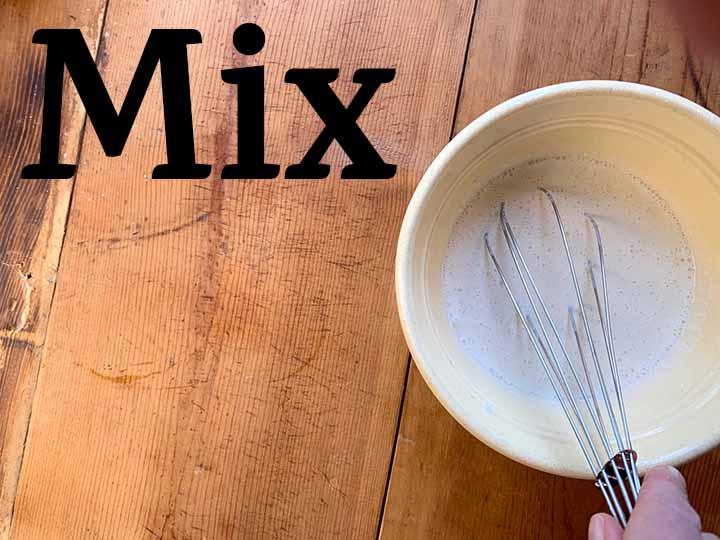 Step 5 mix together cream, sweetener, salt and vanilla