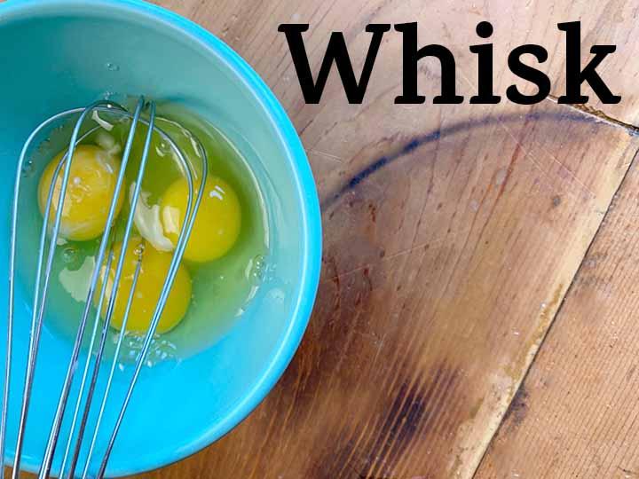 Step 6 Whisk eggs
