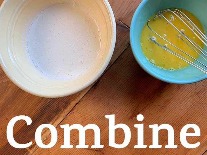 Step 7 Combine cream mixture and eggs