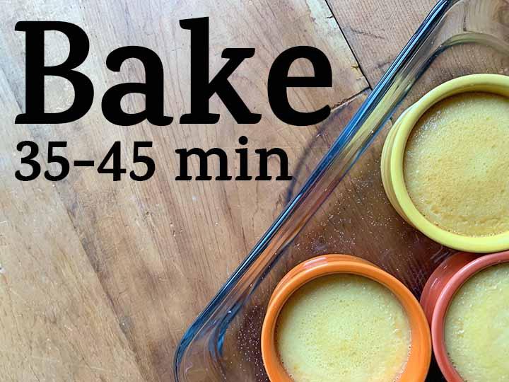 Step 9 Bake flans