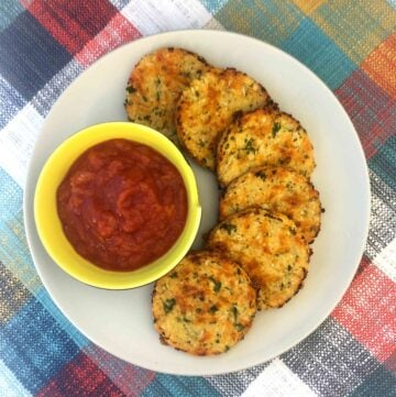 Low Carb Keto Cauliflower Rounds with Ketchup
