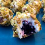 Goat Cheese Wrapped Blackberries