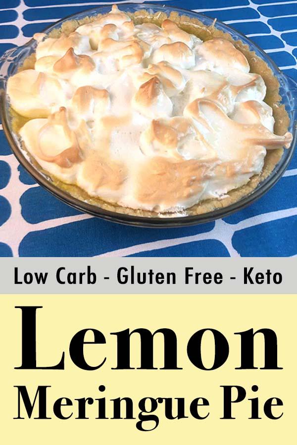 Low Carb Keto Lemon Meringue Pie Pinterest Pin
