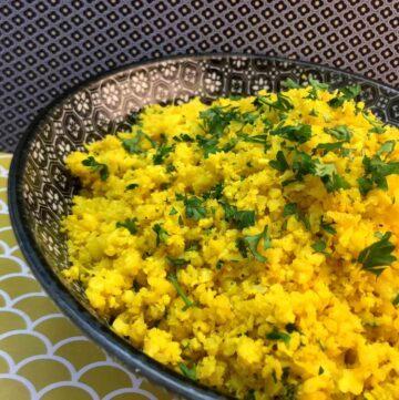Low Carb Keto Lemon Cauliflower Rice