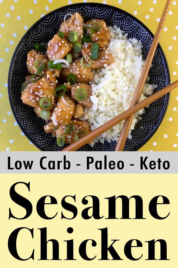 Low Carb Keto Sesame Chicken Pinterest Pin