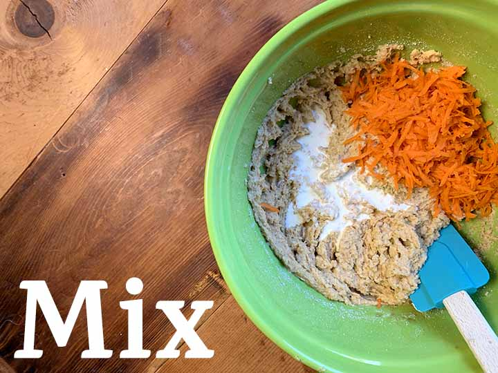 step 6 mix in cream and carrots