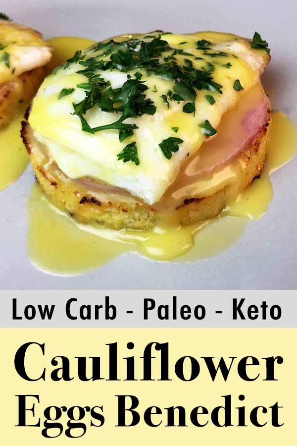 Low Carb Keto Eggs Benedict Pinterest Pin