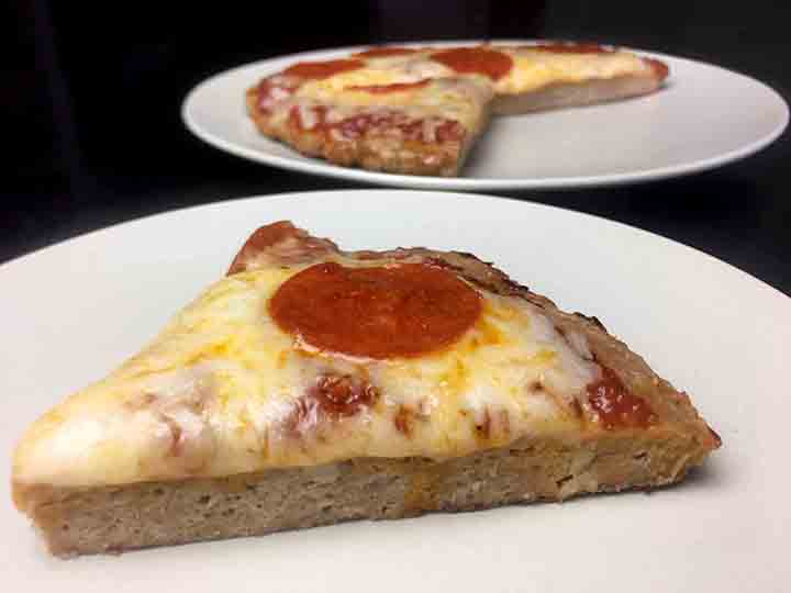 Low Carb Keto Ground Chicken Crust Pizza