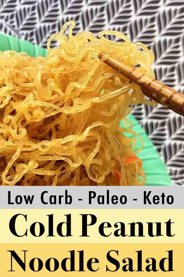 Low Carb Keto Paleo Cold Peanut Noodle Salad