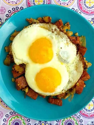 a plate of Keto Corned Beef Hash