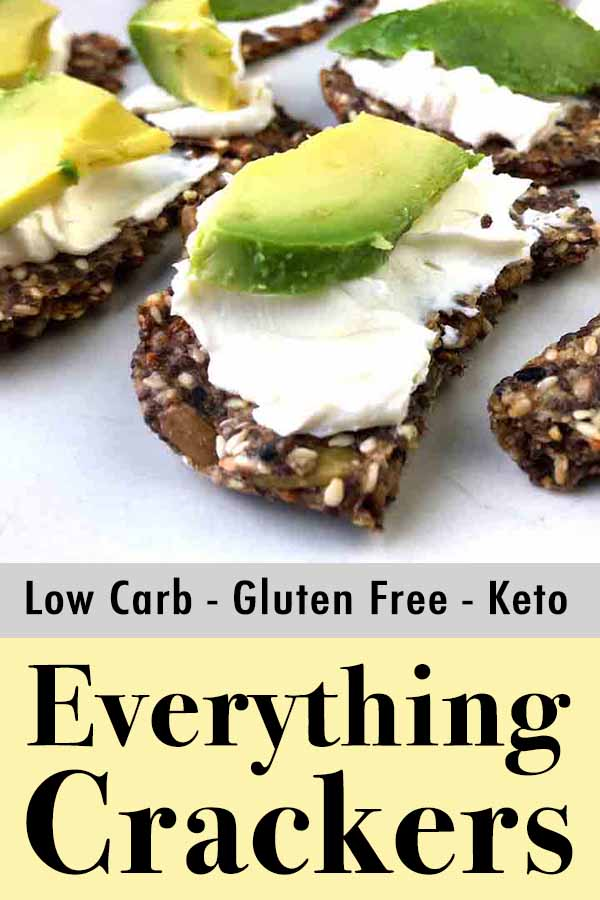 Low Carb Keto Everything Seed Cracker Pinterest Pin