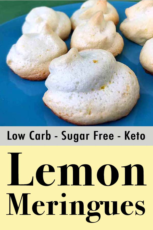 Low Carb Keto Lemon Meringue Cookies Pinterest Pin