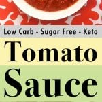Pinterest Pin for Low Carb Keto Quick Spaghetti Sauce