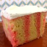 a slice of Keto Poke Cake