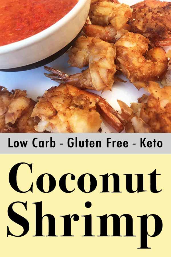 Healthy Paleo Coconut Shrimp Pinterest Pin