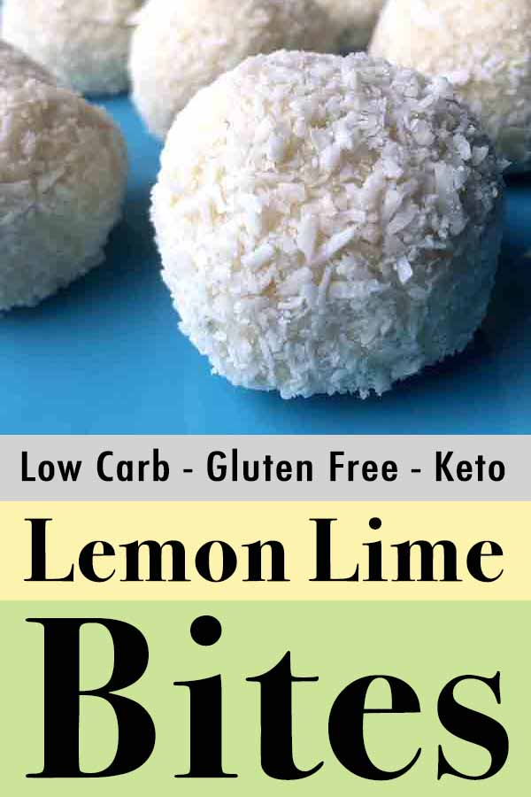 Pinterest Pin for Low Carb Keto Lemon Lime Bites