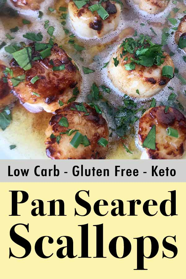 Easy Paleo Pan Seared Scallops in Herb Butter Sauce