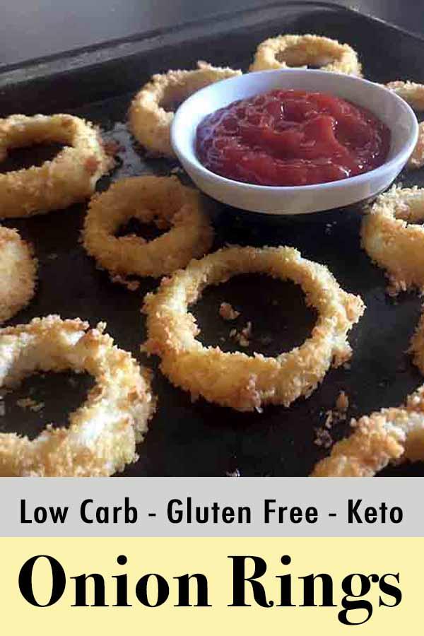 Low Carb Keto Onion Rings Pinterest Pin