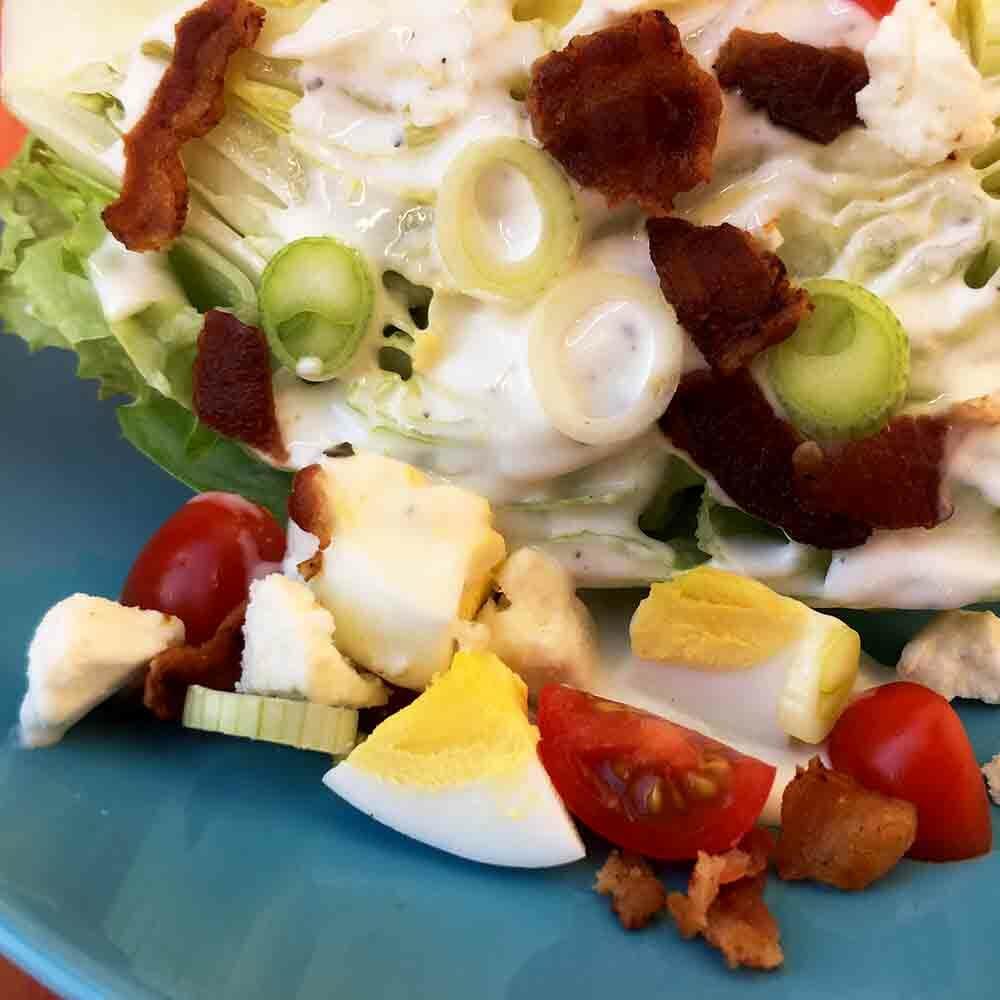 Low Carb Keto Wedge Salad