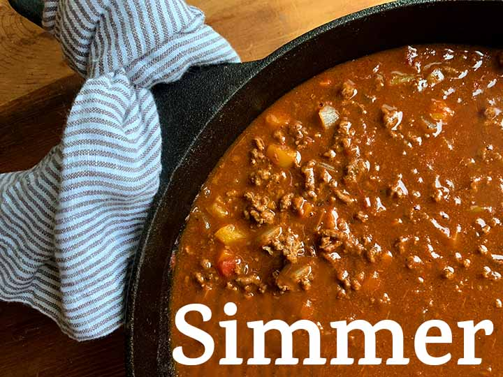 step 5 simmer the chili for 10 minutes
