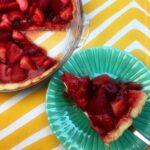 a slice of Keto Strawberry Pie